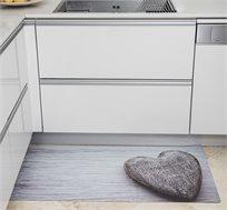 שטיח לב חום לבית עשוי PVC במגוון גדלים לבחירה