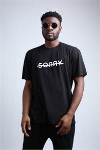 חולצת טי שחורה יוניסקס - Sorry Black T