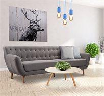 ספת 4 מושבים מבד ביתילי בתפירת בקפיטונז בעיצוב צעיר ומודרני דגם ג'יפסי