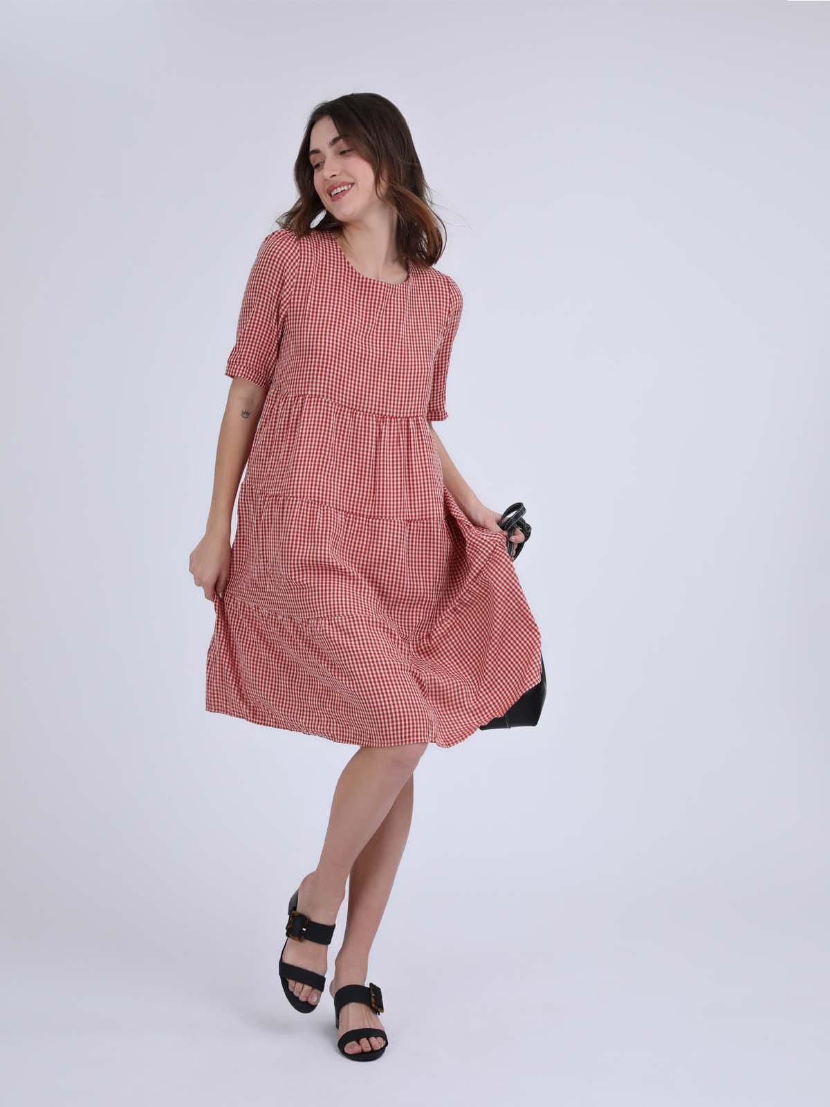 שמלה קומות נלה אדום סטייל ריבר