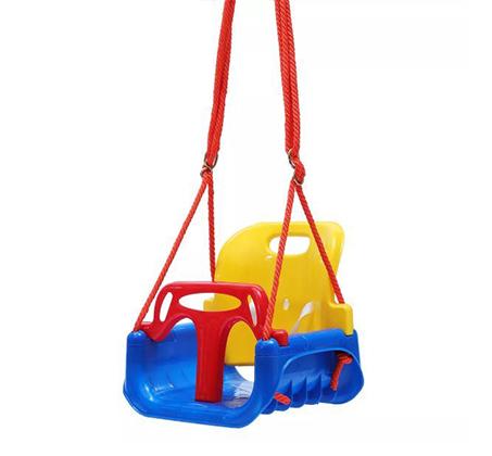 נדנדה 3 ב 1 עשויה פלסטיק לבית או לחצר לפעוטות וילדים S-free - תמונה 2