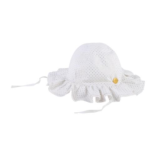 Boss בוס כובע בנות- לבן נקודות זהב