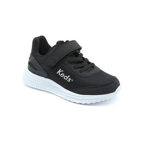 Keds - נעלי סניקרס בצבע שחורלבן עם סוליה עבה