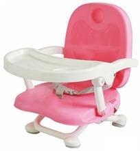 מושב הגבהה לתינוק קיט קט מתקפל עם מגש וריפוד שליף ורחיץ - ורוד