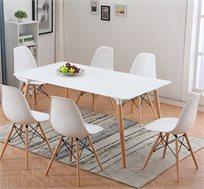פינת אוכל מעוצבת עם 6 כסאות דגם עמוס