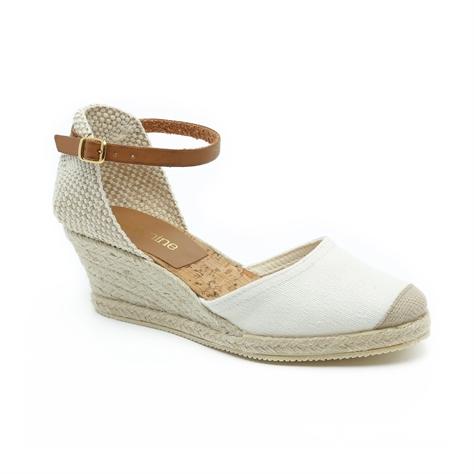 Seventy Nine - נעלי אספדריל פלטפורמה בצבע קרם