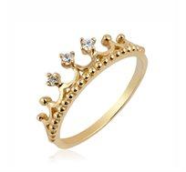 טבעת כתר זהב 14K