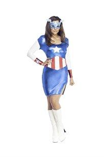 מיס קפטן אמריקה בשמלה נשים