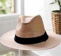 כובע פנמה דקור בשני צבעים לבחירה