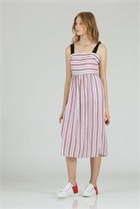 שמלה כתפיות קשירה אדום