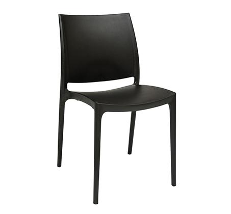 כסא פלסטיק לבית ולמרפסת דגם מאיה במבחר גוונים לבחירה