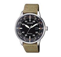 שעון יד סולארי לגבר CITIZEN - חאקי/שחור