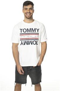 TOMMY HILFIGER גברים // טי - שרט לבנה לוגו