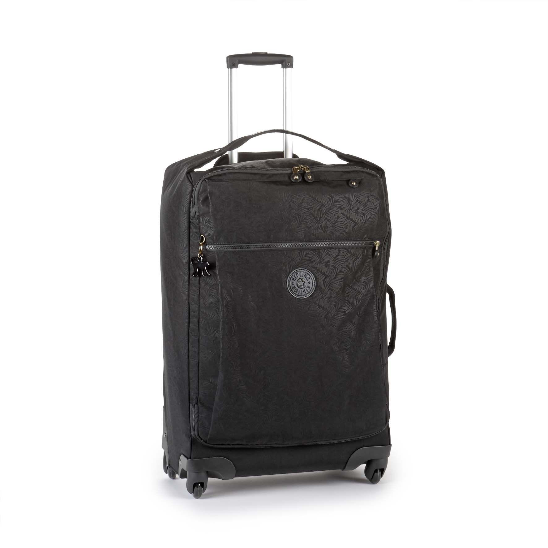מזוודה בינונית Darcey M - Black Leafהדפס עלים שחור