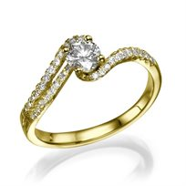 טבעת אירוסין משובצת יהלומים דגם סנדרה 1.01 קראט