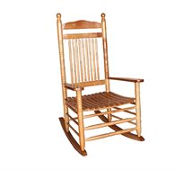 כיסא נדנדה מעץ מלא בעיצוב אותנטי SOLID WOOD PORCH ROCKER