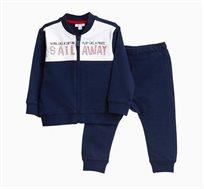 חליפת טריינינג לתינוקות וילדים בצבעי כחול ולבן