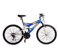 אופני הרים עם 2 בולמי זעזועים (קדמי ואחורי) 18 הילוכים ושלדה גבוהה