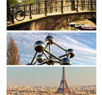 טיול משפחות לפריז, בריסל ואמסטרדם! 8 ימי סיורים מודרכים+כניסה ליורודיסני ואפטלינג החל מ-$1235* לאדם