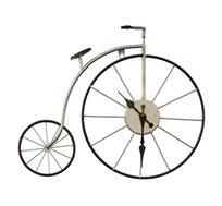 שעון קיר אופניים לבן העשוי מתכת בעיצוב ייחודי U DESIGN