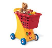 עגלת קניות לפעוטות little tikes כוללת סל בעל נפח גדול, מושב לבובה וגלגלים איכותיים - משלוח חינם