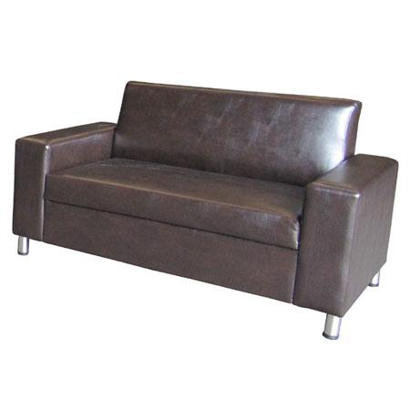 ספת דו ותלת מושבית מפנקות ונוחות מרופדות בדמוי עור בשילוב רגלי ניקל Or Design דגם טקסס - תמונה 6