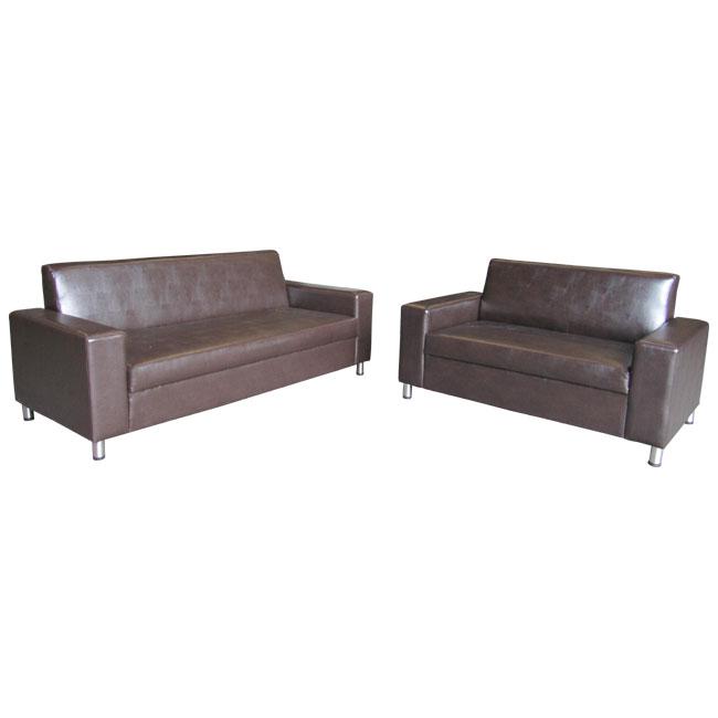 ספת דו ותלת מושבית מפנקות ונוחות מרופדות בדמוי עור בשילוב רגלי ניקל Or Design דגם טקסס - תמונה 2