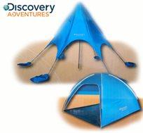 אוהל חוף פתוח מבית DISCOVERY ADVENTURES עשוי מחומרים המגינים מפני קרינת השמש, ב-2 דגמים לבחירה