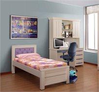 מיטת יחיד מעץ לחדרי ילדים ונוער דגם ניצן