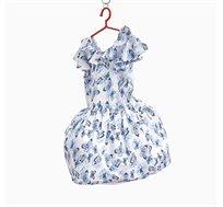 שמלת OVS מלמלה פרפרים - כחול/לבן