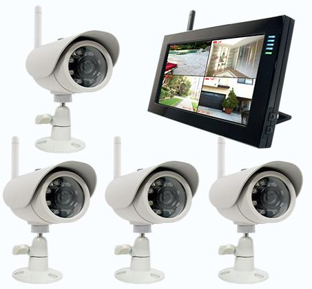 מודיעין הכי בטוח! מערכת DVR אלחוטית הכוללת 2 מצלמות אלחוטיות, מסך LCD XX-95