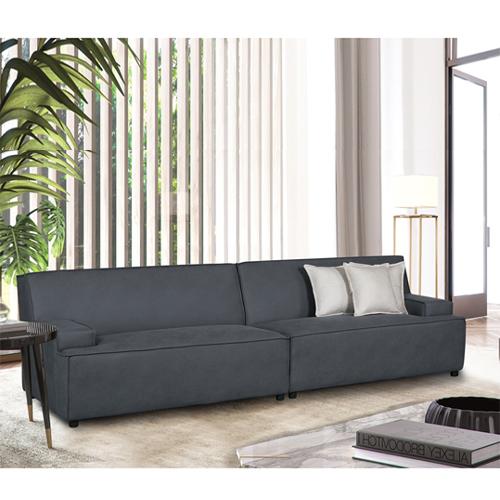 ספה רחבה 2.9 מ' מעוצבת עם קפיצים מבודדים ובד רחיץ  דגם ליסבון HOME DECOR - תמונה 3