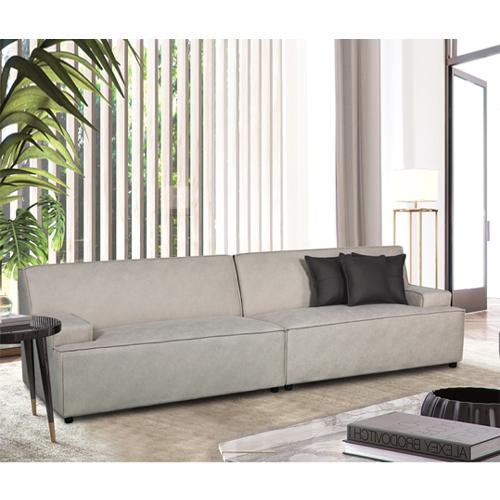 ספה רחבה מעוצבת עם קפיצים מבודדים ובד רחיץ דגם LISBON