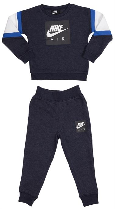 Nike ילדים קטנים // Nike Air Crew And Pant Set Blue