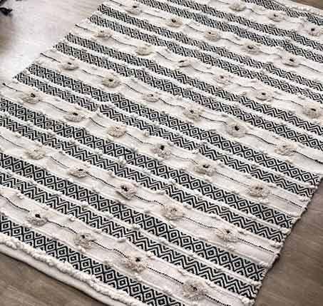 שטיח ארוג בעבודת יד דגם ראגס