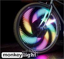 """הלהיט החדש מארה""""ב! מאנקי לייט - 32 נוריות LED צבעוניות לאופניים העמידות למים ובכל מזג האוויר  - משלוח חינם!"""