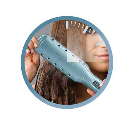 מחליק שיער רחב יבש רטוב REMINGTON בעל פלטות קרמיות דגם S7350 - משלוח חינם - תמונה 2