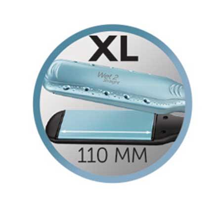 מחליק שיער רחב יבש רטוב REMINGTON בעל פלטות קרמיות דגם S7350 - משלוח חינם - תמונה 3