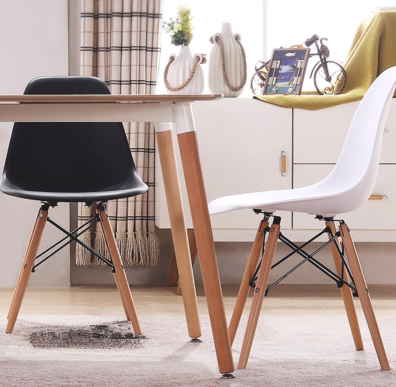 פינת אוכל מעוצבת הכוללת שולחן מלבני בצבע עץ טבעי וארבעה כסאות בצבעים לבחירה TAKE-IT - תמונה 3
