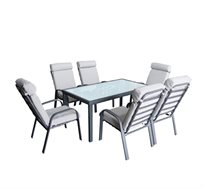 סט שולחן אלומיניום עם 6 כסאות מרופדים מאלומיניום AUSTRALIA CAMP