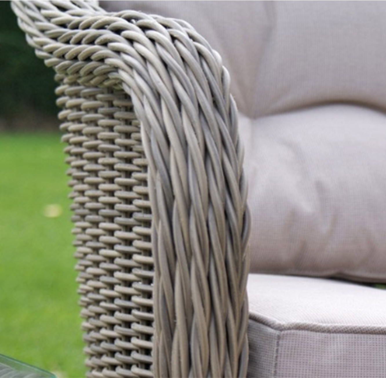 מערכת ישיבה לגינה או למרפסת הכוללת שתי כורסאות ושולחן דגם LOVE - תמונה 3