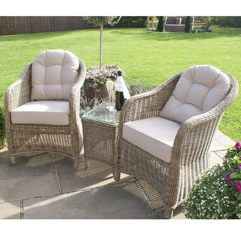 מערכת ישיבה לגינה או למרפסת הכוללת שתי כורסאות ושולחן דגם LOVE - תמונה 2