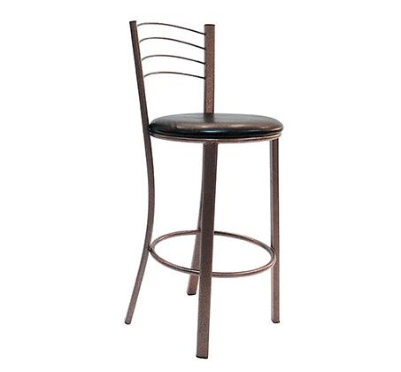 כסא בר גבוה למטבח בריפוד סקאי דגם באלי במבחר גוונים לבחירה