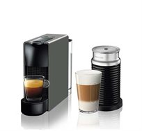 מכונת NESPRESSO אסנזה מיני בצבע אפור דגם C30 כולל מקציף חלב ארוצ'ינו