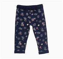 מכנסיים לתינוקות בצבע כחול עם הדפס ציורים