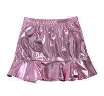 חצאית זוהרת לילדות - ורוד