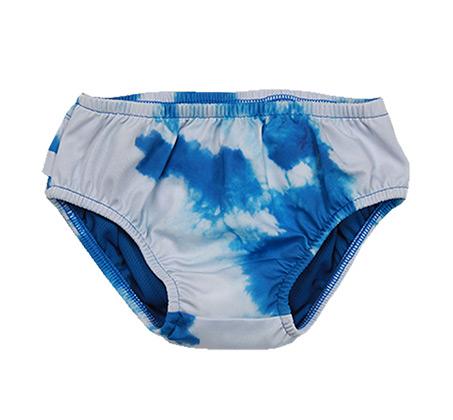 תחתון בגד ים Minene לבנות - טאי דאי כחול