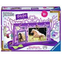 """פאזל """"עץ לתליית תכשיטים"""" - 108 חלקים -  GIRLY GIRL - סוסים"""