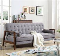 ספה לאירוח תלת מושבית מבד נפתחת למיטה