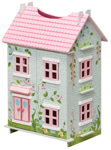בית בובות תלת קומתי נפתח עם 7 רהיטים - קוטג' האפונה הריחנית TEAMSON - משלוח חינם - תמונה 2